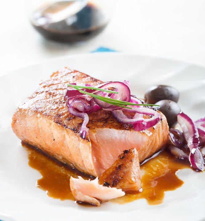 comida-para llevar-salmon-glaseado