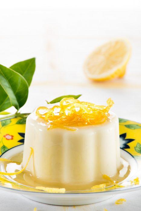 Gelatina de limón y nata