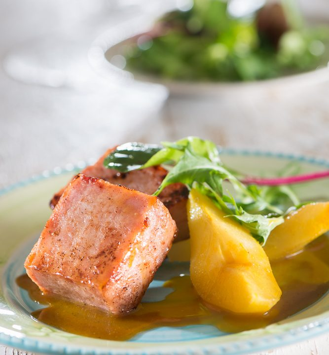 comida-para llevar-tacos-jamon-pera