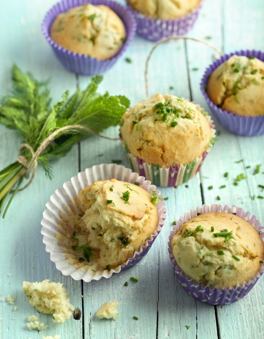 Muffins de finas hierbas