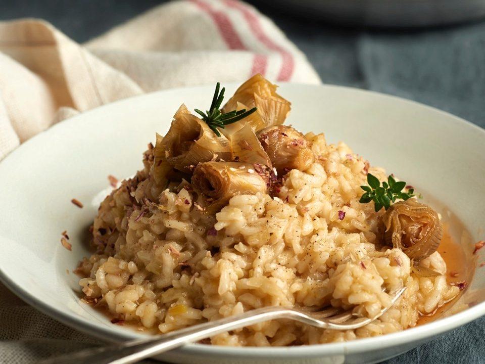 comida-para llevar-risotto-alcachofas
