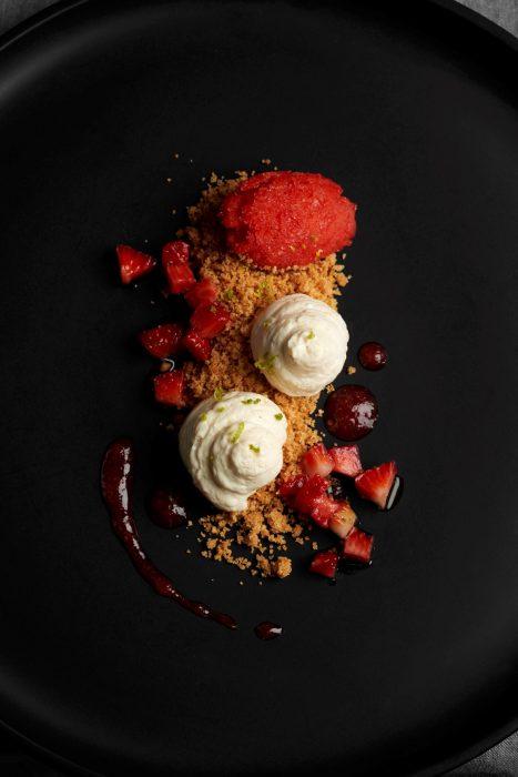 Strawberry Cheesecake desestructurada