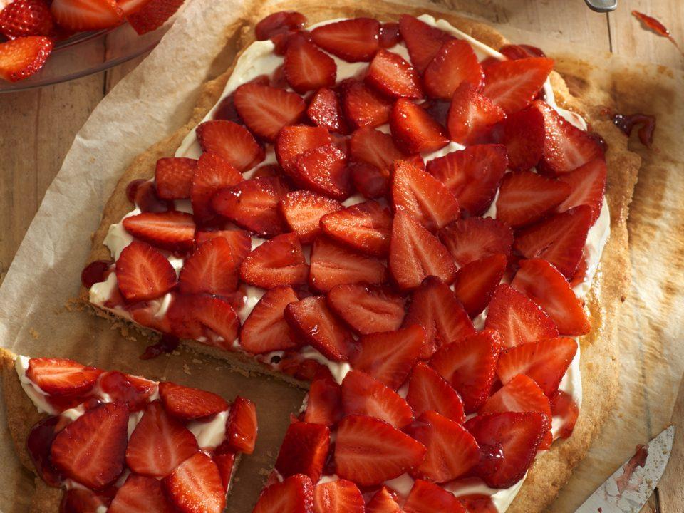 Tarta de fresas con mascarpone